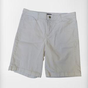 NYDJ Petite Women's White Bermuda Shorts